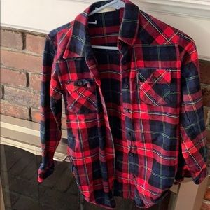 Tops - Red flannel top